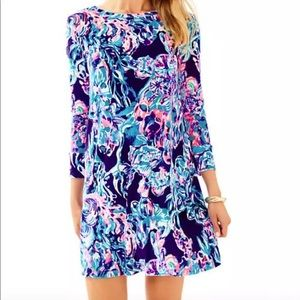Lilly Pulitzer Olive Luxe Velour Dress